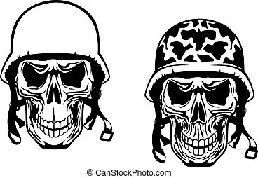 Krieger und Pilotschädel