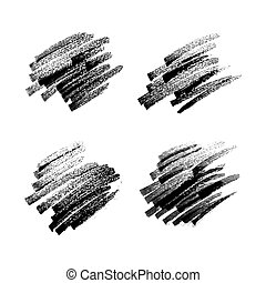 kritzeln, markierung, schwarz