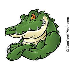 Krokodil-Maskottchen.