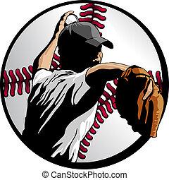 krug, kugel, closeup, baseball