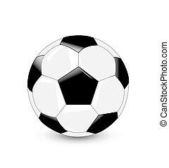 kugel, fußball, vektor, abbildung
