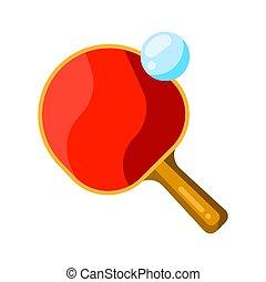 kugel, ikone, style., tischtennis schläger, wohnung