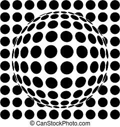 kugelförmig, op-art