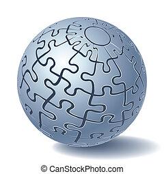 kugelförmig, puzzel, stichsaege