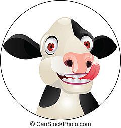Kuh-Zeichen-Kopf