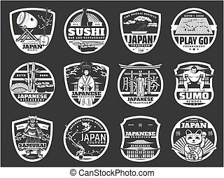 kultur, sushiplatte, japan, heiligenbilder, geschichte, religion
