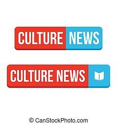 Kulturnachrichtenknopfvektoren.