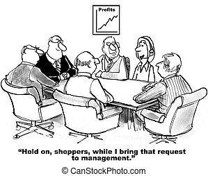 Kunden verbinden sich mit Unternehmen.