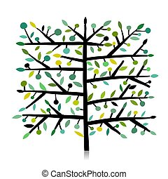 Kunstbaum für Ihr Design