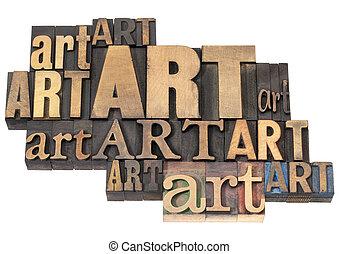 Kunstwort abstrakt in der Holzgruppe