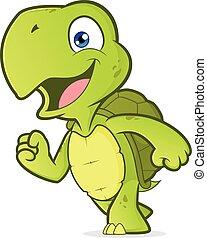 Lächelende Schildkröte.