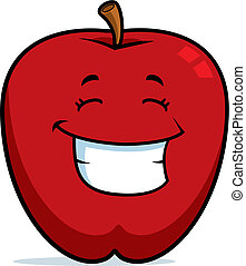 lächeln, apfel