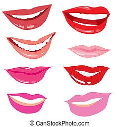 lächeln, lippen