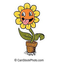 Lächelnde Blume