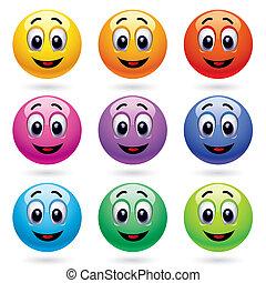 Lächelnde Eier