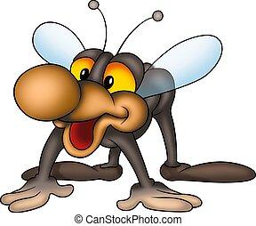Lächelnde kleine Fliege