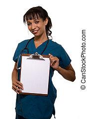 Lächelnde Krankenschwester