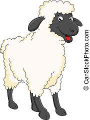 Lächelnde Schaf-Cartoon.
