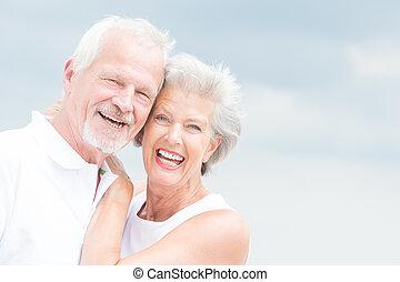 Lächelnde Senioren
