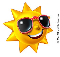 Lächelnde Sommersonne-Figur