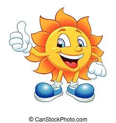Lächelnde Sonne.