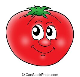 Lächelnde Tomate