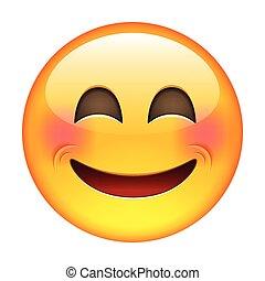 Lächelnder Emoticon