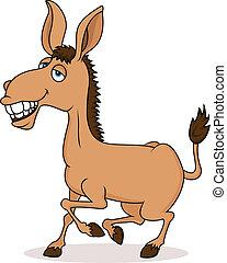 Lächelnder Esel Cartoon