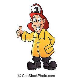 Lächelnder Feuerwehrmann.
