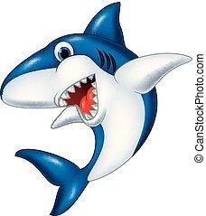 Lächelnder Hai-Cartoon.
