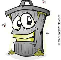 Lächelnder Müll kann Zeichentrickfigur sein