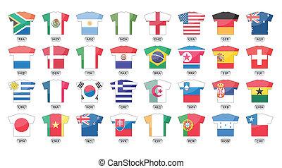 Länder Flaggen Icons.