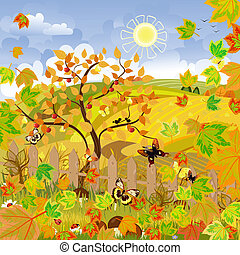 ländliche Landschaft Herbst