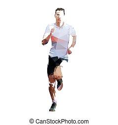 Läufer, geometrische isolierter Athlet.