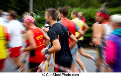 Läufer im Marathon