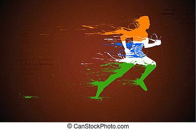 Läufer in Indian Tricolor