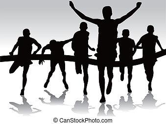 Läufer-Marathon.