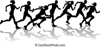 Läufer rennen