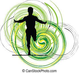 Läufer, Vektor Illustration