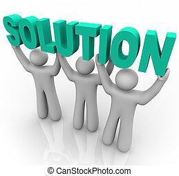 Lösung - das Wort aufheben