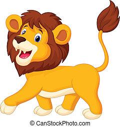 Löwe-Cartoon läuft.