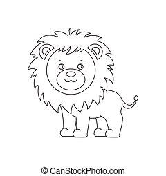 Löwe für Farbbuch.