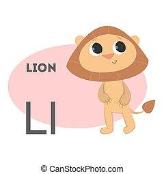 Löwe im Alphabet.