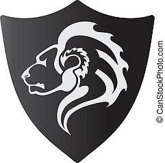Löwen-Logo-Vektor.