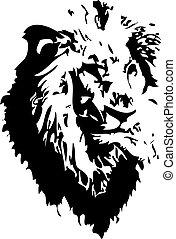 Löwen-Tattoo.