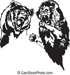 Löwen und Bär