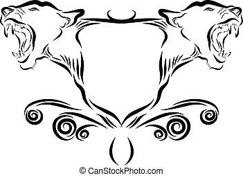 Löwenkopf-Emblem