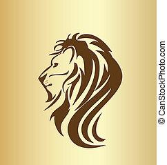 Löwenkopf-Silhouette-Logo.