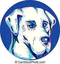 Labrador Retriever Dog Doodle Kreis.
