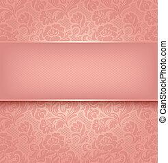Lace-Hintergrund, rosa Zierde-Farbe, simural. Vektor eps 10